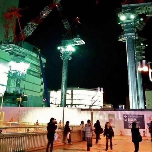 夜の天王寺… おやすみなさい。 #crane #Osaka #Abeno #night
