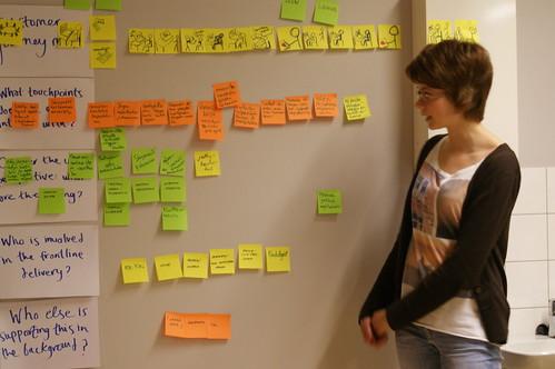 Students blueprinting