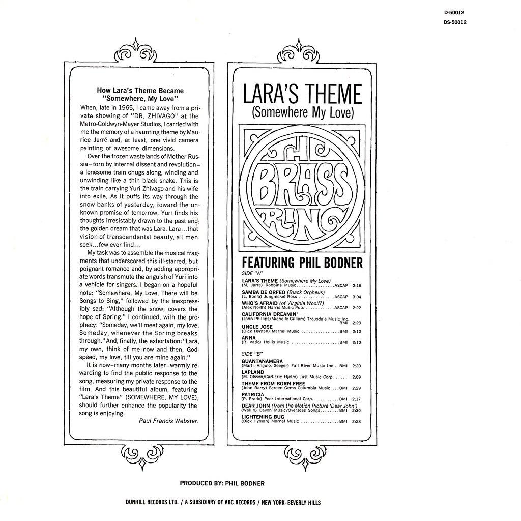 The Brass Ring – Lara's Theme