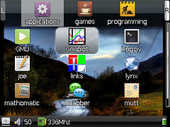 Gmenu2x Launcher on Ben NanoNote