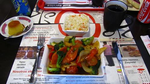 vista general del menú wok