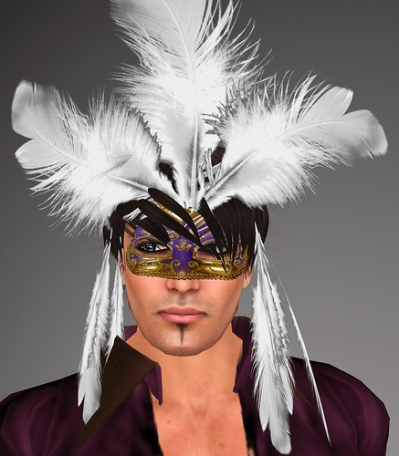 MASQUERADE MASK Fancy Feathered