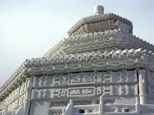 snow palace at half-size