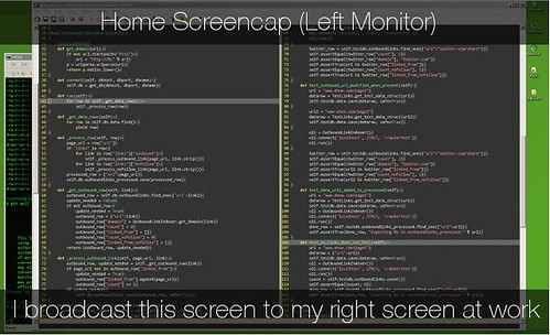 Home Screen Cap: Left Monitor