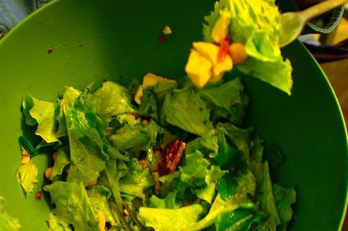 BLT salad with tomato jam vinagrette