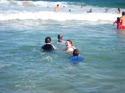 Swimming at Avalon Beach