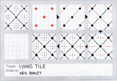 Lyons Tile - tangle pattern by perfectly4med