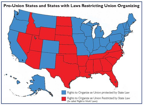 Pro-Union vs Free Labor States