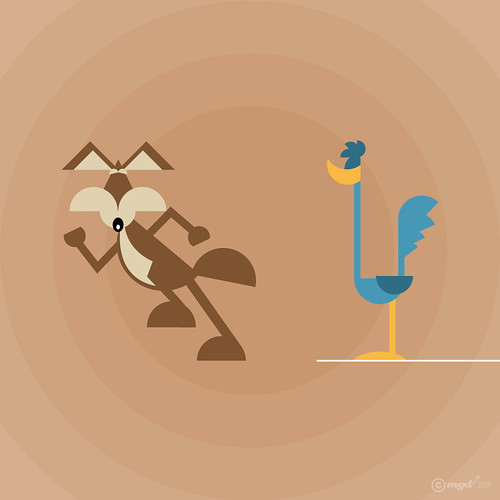 Wile E. Coyote and Road Runner