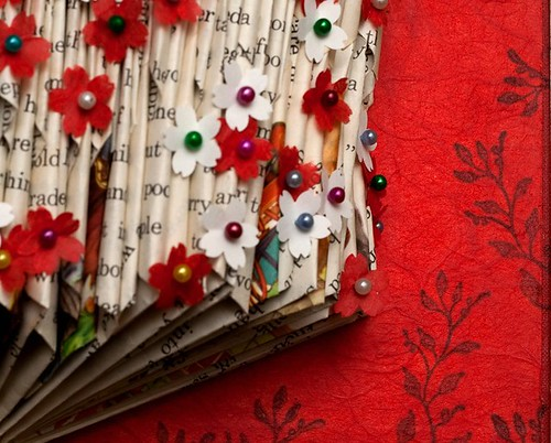 Altered Book: Coming Into Bloom - detail
