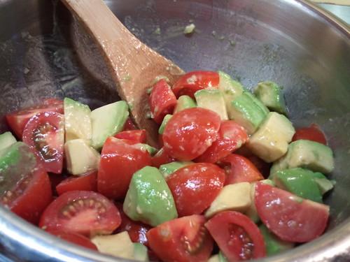 Tomato-avocado salad