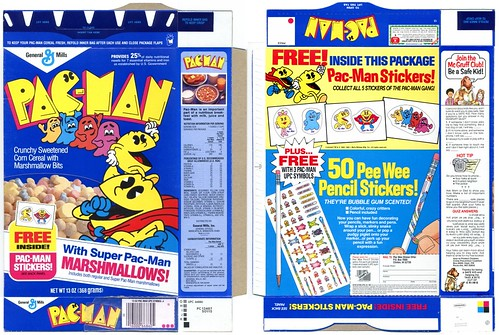 1985 Pac-Man Box Stickers