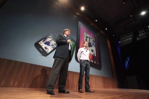 Todd Bradley, HP executive vice president, and Jon Rubenstein, of Palm