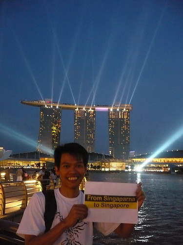 at Merlion Park,night
