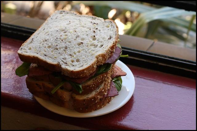 Pastrami Baby Spinach Sandwich