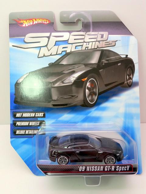 hot wheels speed machines '09 nissan gt-r specV blk (1)
