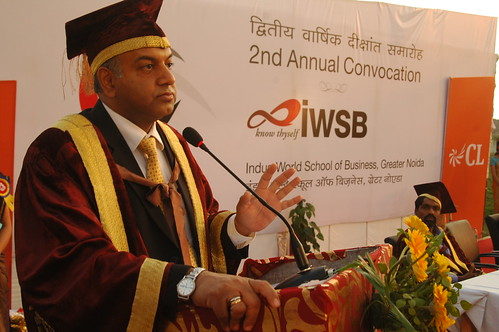 Sanjeev Bhikchandani, Founder Naukri.com delivering convocation address
