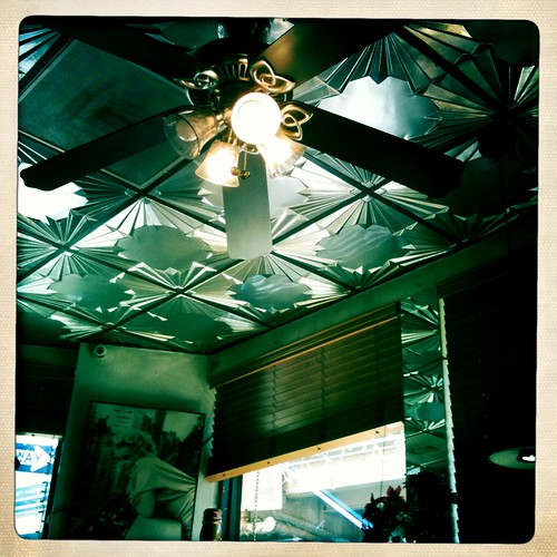 Awesome Tin Ceiling at Diner