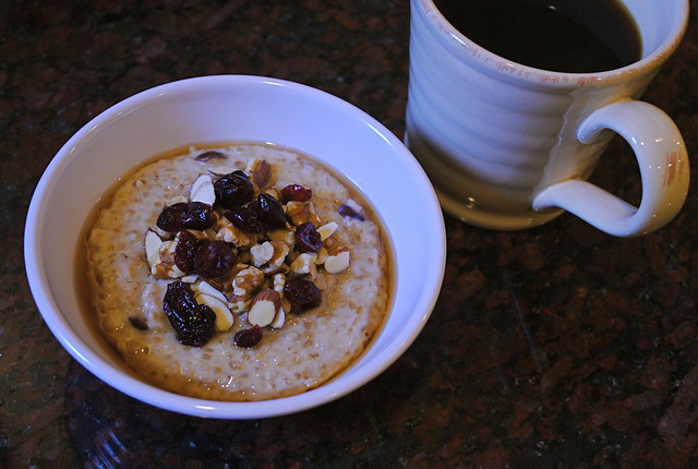 Steel Cut Oatmeal with Coffee