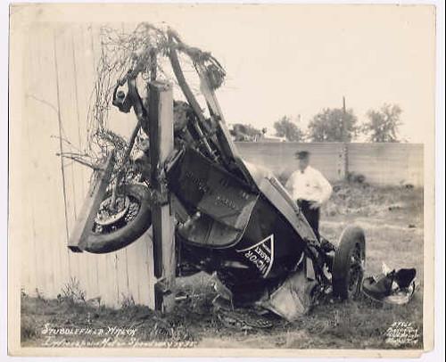 Stubby Stubblefield's Indianapolis 500 wreck