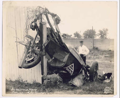 Stubby Stubblefield's Indianapolis 500 wreck