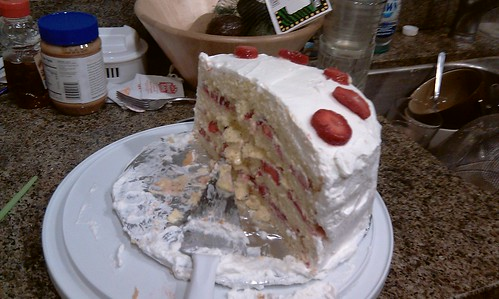 five people, one cake--post-carnage