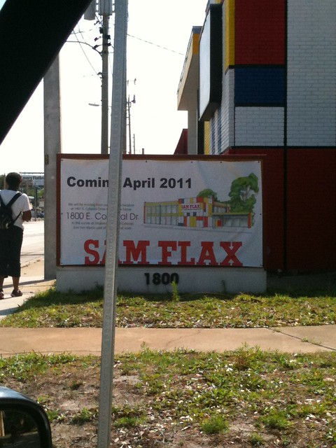 New Sam Flax Location on Colonial Drive