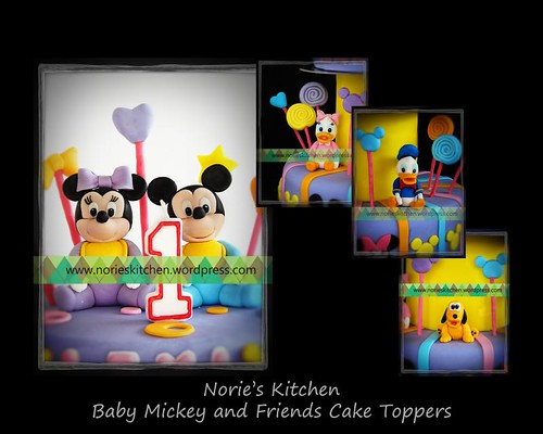 Norie's Kitchen - Baby Mickey and Friends Cake Toppers