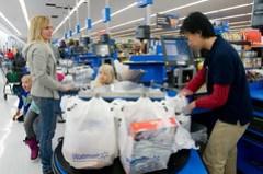 Walmart Grocery Checkout Line in Gladstone, Mi...