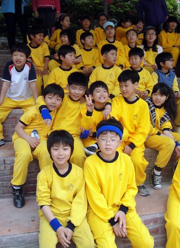 Team Blue fourth graders