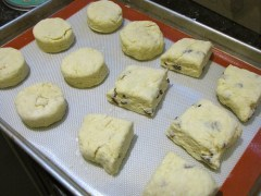 Scones on the tray