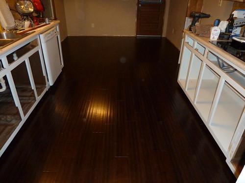 Kitchen, with new floor