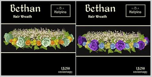 Hatpins - Bethan Wreaths