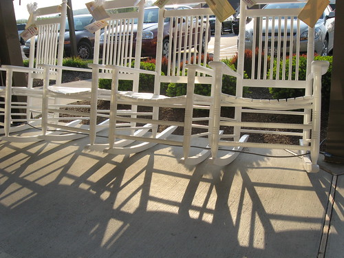 rows of rocking chairs