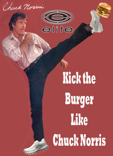 chuck norris kick the burger