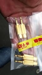 3.5mmφミニフォンプラグ(モノラル)←→RCAジャック