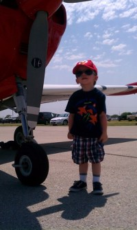 Ansel at the Denton Air Show