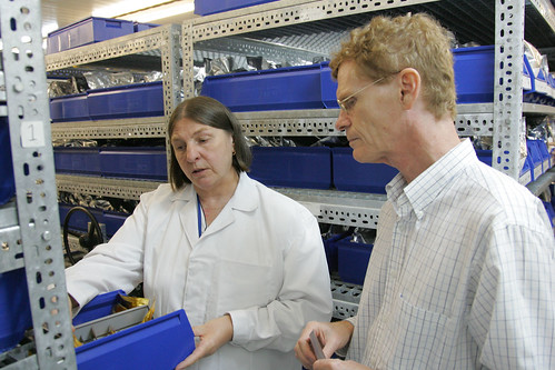 Jean Hanson shows Cary Fowler ILRI's Genebank in Addis Ababa