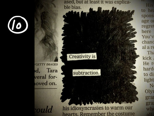 creativity is subtraction