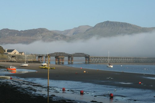 The Mawwdach Estuary as the mist comes in...