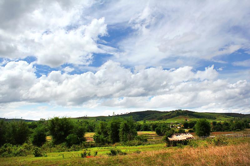 View from Plain of Jars Site 3, Phonsavan