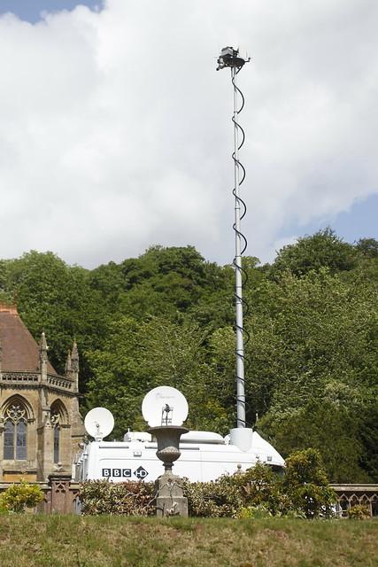 The BBC crew at Tyntesfield