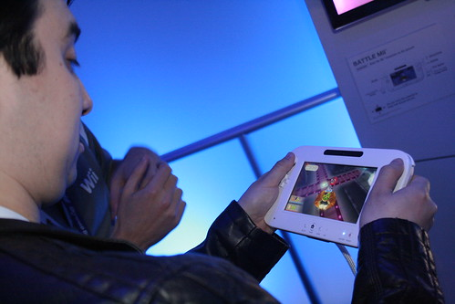 The Wii U in action.