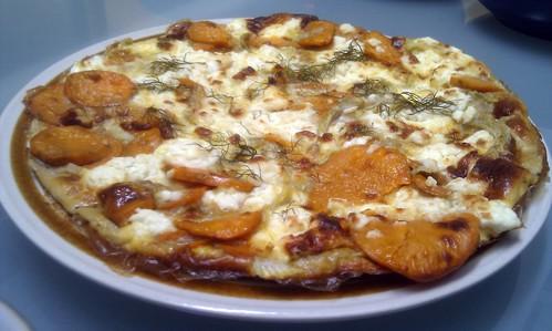 Sweet Potato, Fennel and Feta Frittata
