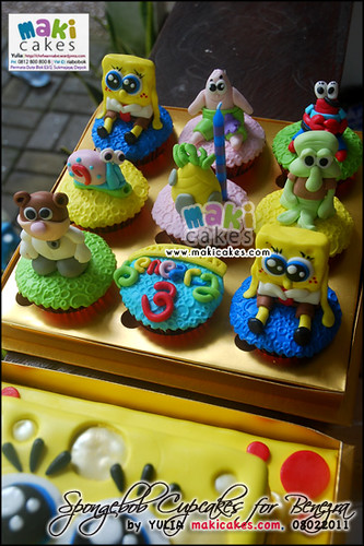 Spongebob Cupcakes Set for Benezra - Maki Cakes
