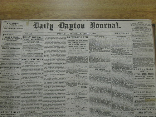 Daily Dayton Journal, April 13, 1861