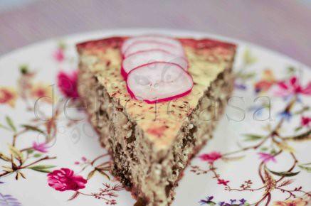 Cheesecake cu feta, leurda, zuchini