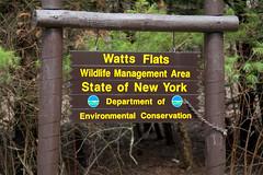 Watts Flats WMA Sign