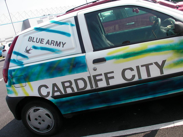 Cardiff City FC decorated van