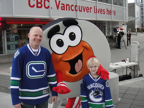 With Peter Puck by the CBC
